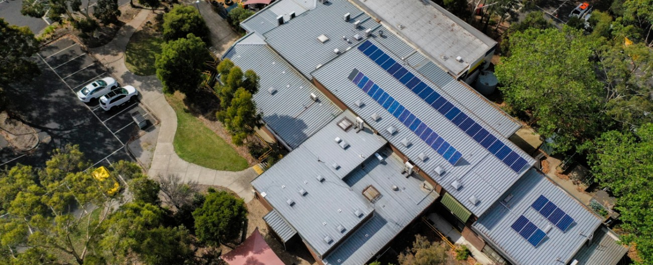 Solar panels on Eley Park Community Centre