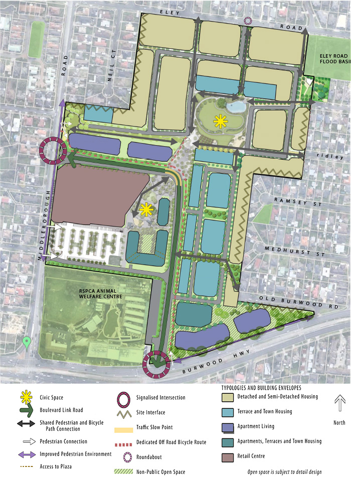 Map of Burwood Heights Development site