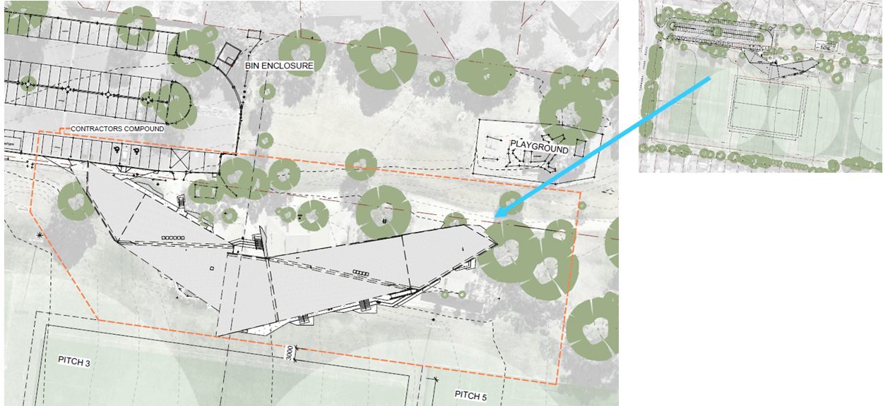 image of terrara park pavilion redevelopment site locality plan