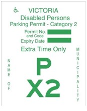 Category 2 Disabled Permit