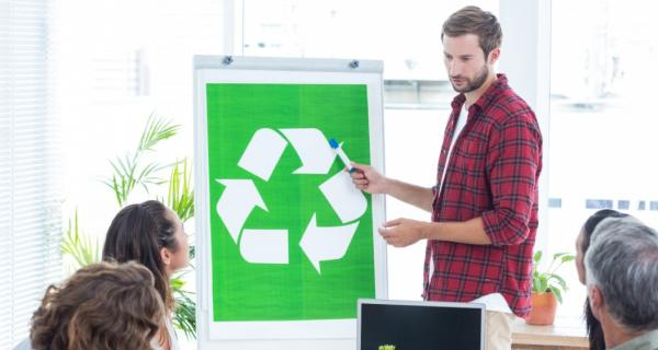 Image of educating about recycling