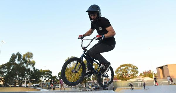 BMX Rider at Box Hill Skate Park Youth Event