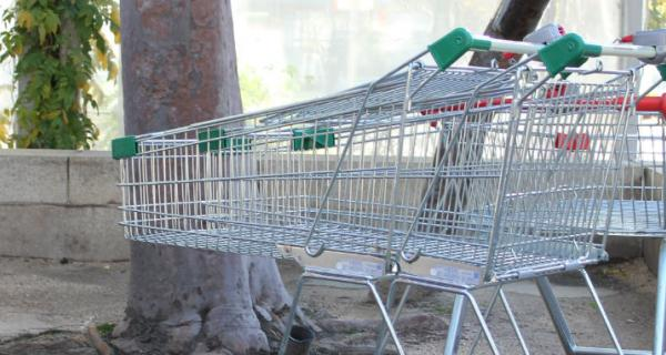Abandoned shopping trollies in Box Hill Mall