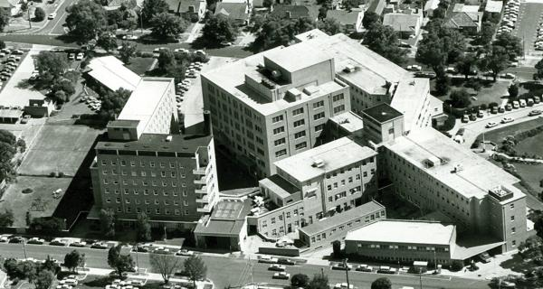 An old image of Box Hill Hospital