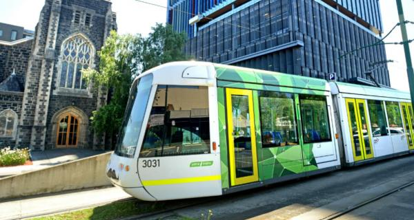Tram in Box Hill