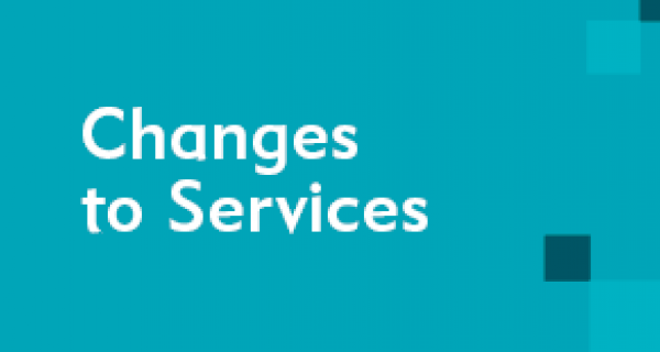 Changes to Services