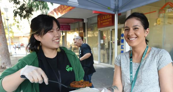 WYRC & Youth ConneXions worker at Box Hill Mall event
