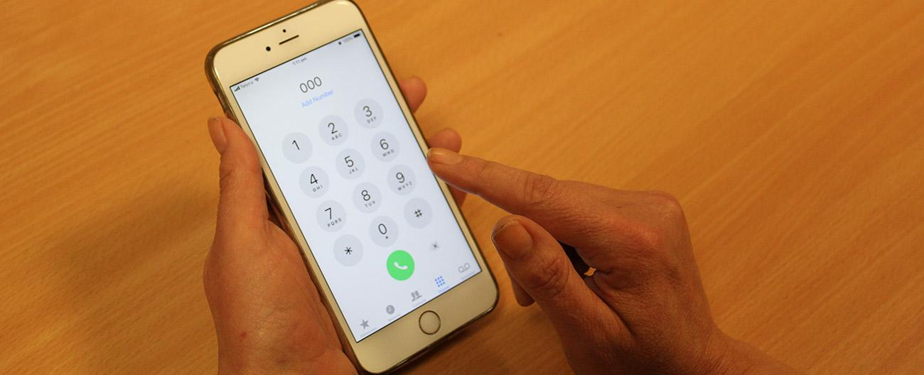 dialling emergency services on a mobile phone